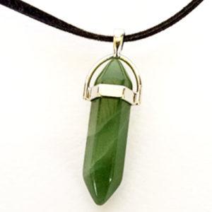 Нефрит, медальон, естествен камък, шестоъгълник,
