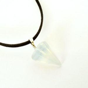 Планински кристал, медальон, шестоъгълна пирамида