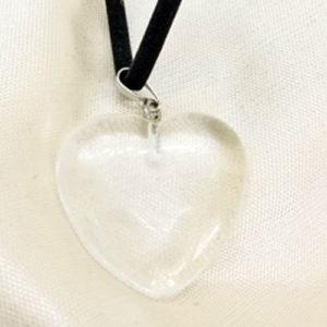 Планински кристал, прецизно изработен медальон, сърце