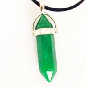 Авантюрин, зелен, медальон, шестоъгълник (шестограм)