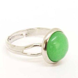 Авантюрин, регулируем пръстен, естествен камък, кръгъл 10 или 12 мм.