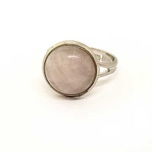 пръстен, Розов кварц, разтегателен, 10м. или 12мм.