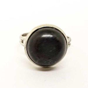 Оникс, черен, регулируем пръстен, естествен камък, кръгъл, 10мм. или 12 мм.