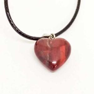 Яспис, червен, медальон, мини сърце