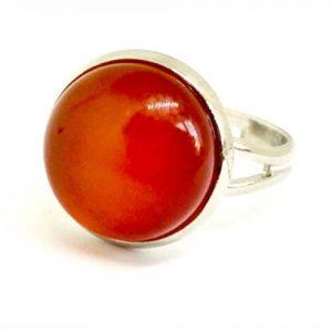 пръстен, Каренол, регулируем пръстен, естествен камък, кръгъл 12 мм.