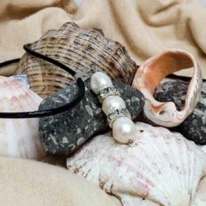 Блян от Йемания, Висулка с 3 Перли, естесвени, бели