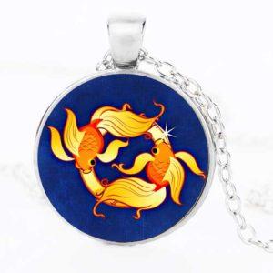 Риби, ръчно изработен медальон