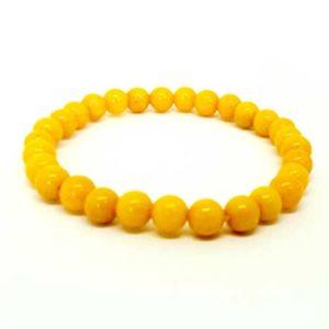 Жадеит, жълт, ръчно изработена гривна различни размери мъниста