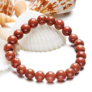 Sand aventurine, yellow, handmade bracelet different sizes of beads