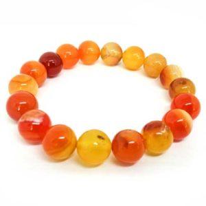 Ахат, ивичест, оранжев, ръчно изработена гривна различни размери