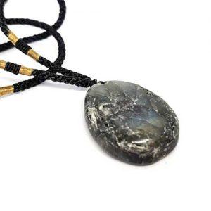 медальон Лабрадорит с плъзгащ се възел