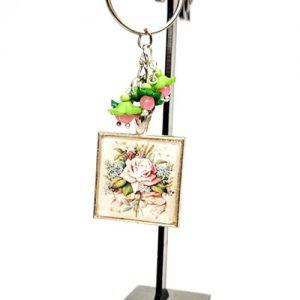 Роза, ключодържател / аксесоар за чанта