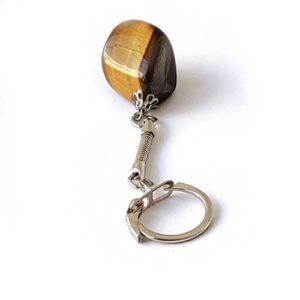 Ключодържател, Тигрово око, естествен камък, несиметрична висулка