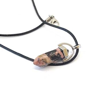 Родонит, медальон, шестоъгълник (шестограм)